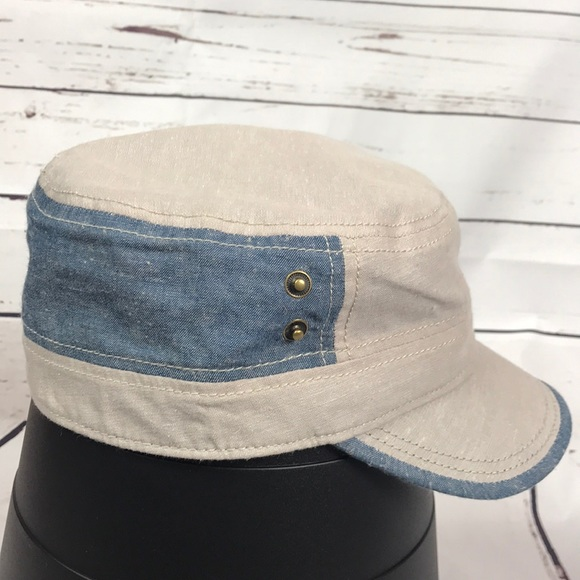 Tan and denim cadet cap NWT. NWT. Daniel Cremieux 58f2e6b95fc3